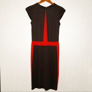 ABS Allen Schwartz Colorblock Sheath Dress Small